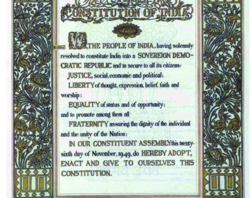 preamble of Indian constitution image