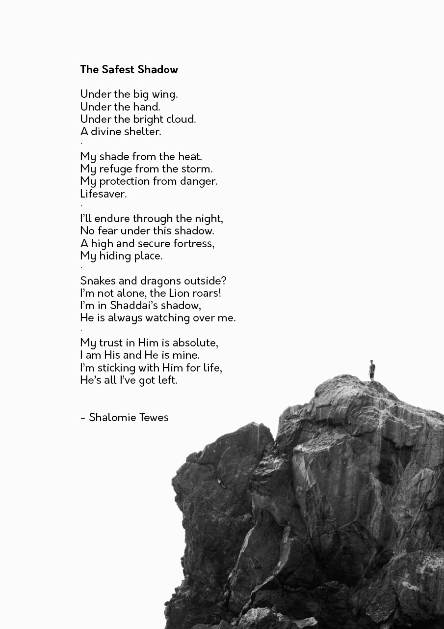 poem on white with pic of rock