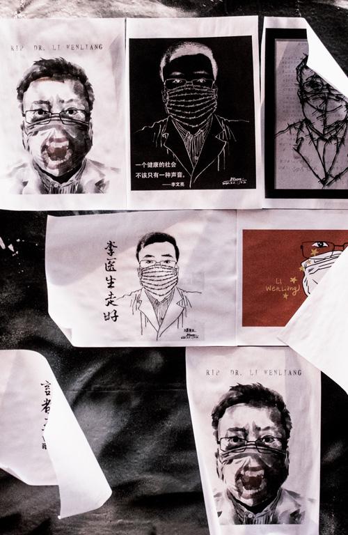 street art of Dr Li Wenliang