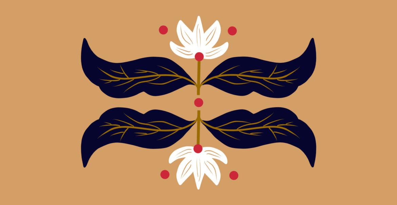 flower and leaf art